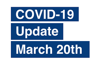 PAS Update on Coronavirus (COVID-19) March 20th
