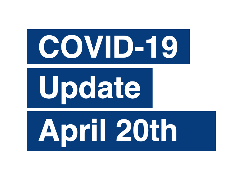 PAS Update on Coronavirus (COVID-19) April 20th